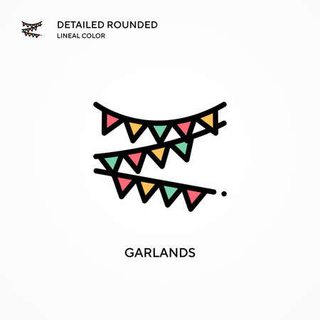Garlands vector icon. Modern vector illustration concepts. Easy to edit and customize.