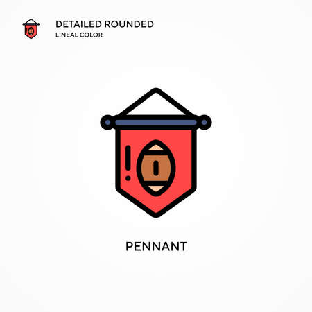 Pennant vector icon. Modern vector illustration concepts. Easy to edit and customize.