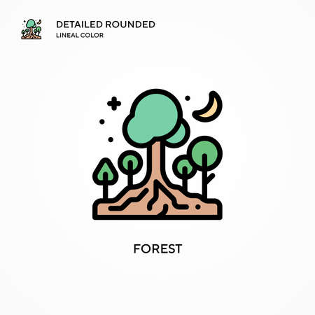 Forest vector icon. Modern vector illustration concepts. Easy to edit and customize. Ilustração