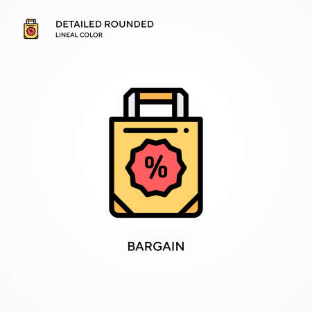 Bargain vector icon. Modern vector illustration concepts. Easy to edit and customize.