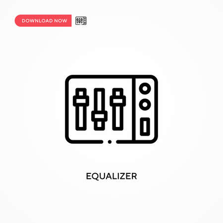 Equalizer vector icon. Modern, simple flat vector illustration for web site or mobile app