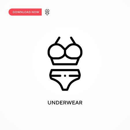 Underwear vector icon. Modern, simple flat vector illustration for web site or mobile app
