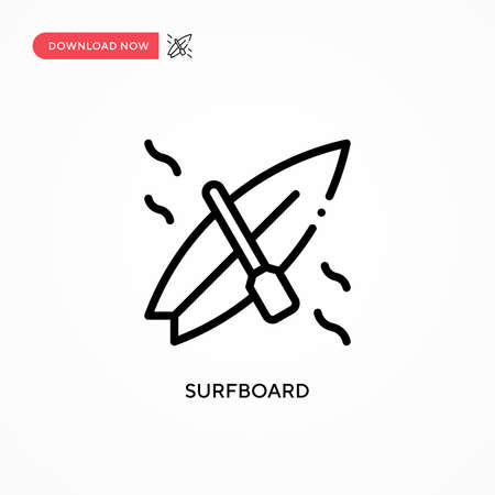 Surfboard vector icon. Modern, simple flat vector illustration for web site or mobile app