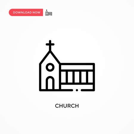 Church vector icon. Modern, simple flat vector illustration for web site or mobile app Illusztráció