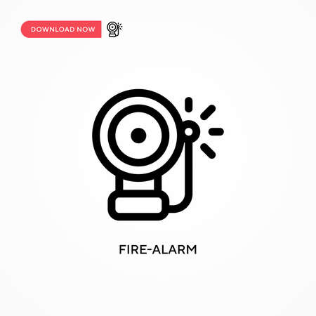 Fire-alarm vector icon. Modern, simple flat vector illustration for web site or mobile app Иллюстрация