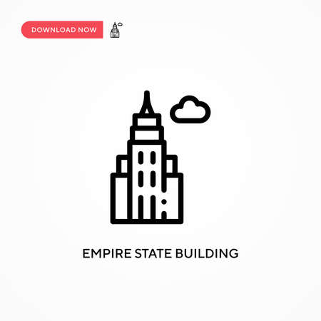 Empire state building vector icon. Modern, simple flat vector illustration for web site or mobile app Ilustrace