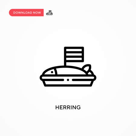 Herring vector icon. Modern, simple flat vector illustration for web site or mobile app