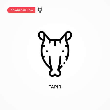 Tapir vector icon. Modern, simple flat vector illustration for web site or mobile app