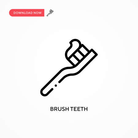 Brush teeth vector icon. Modern, simple flat vector illustration for web site or mobile app