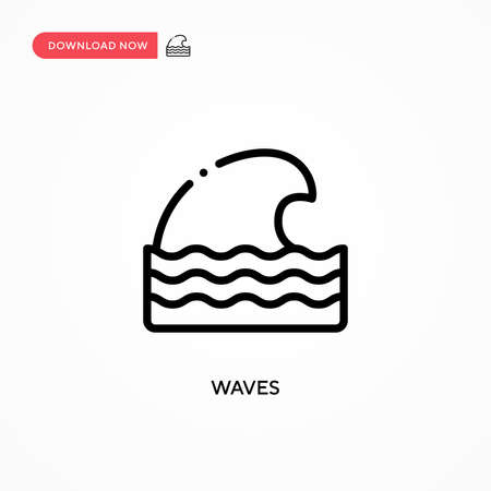 Waves vector icon. Modern, simple flat vector illustration for web site or mobile app Illusztráció