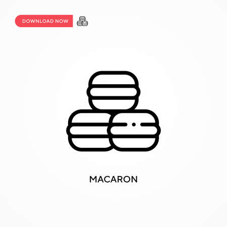 Macaron vector icon. Modern, simple flat vector illustration for web site or mobile app 矢量图像