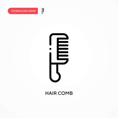 Hair comb vector icon. Modern, simple flat vector illustration for web site or mobile app
