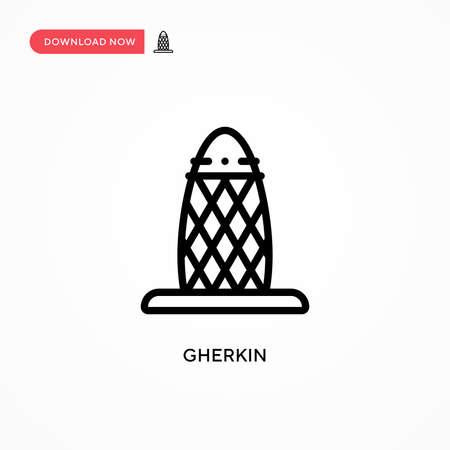 Gherkin vector icon. Modern, simple flat vector illustration for web site or mobile app Illusztráció