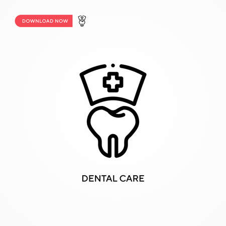 Dental care vector icon. Modern, simple flat vector illustration for web site or mobile app