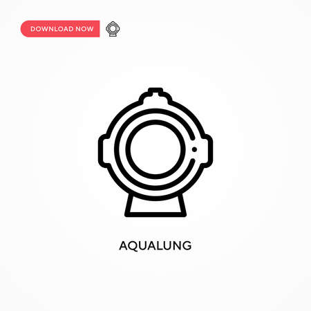 Aqualung vector icon. Modern, simple flat vector illustration for web site or mobile app