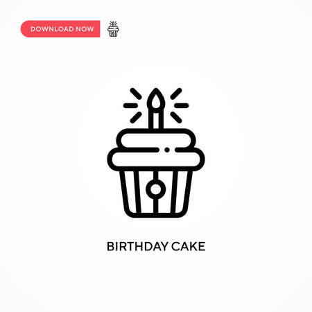 Birthday cake vector icon. Modern, simple flat vector illustration for web site or mobile app