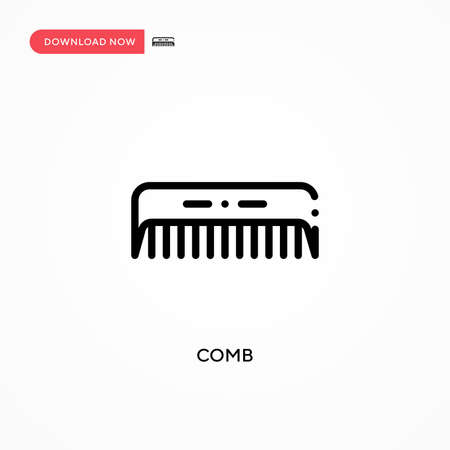 Comb vector icon. Modern, simple flat vector illustration for web site or mobile app