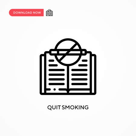 Quit smoking vector icon. Modern, simple flat vector illustration for web site or mobile app