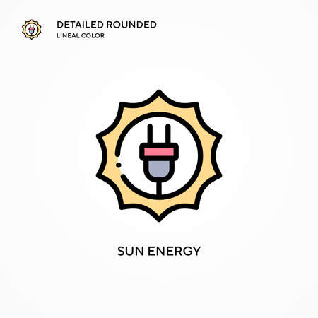 Sun energy vector icon. Modern vector illustration concepts. Easy to edit and customize.
