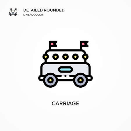 Carriage vector icon. Modern vector illustration concepts. Easy to edit and customize.