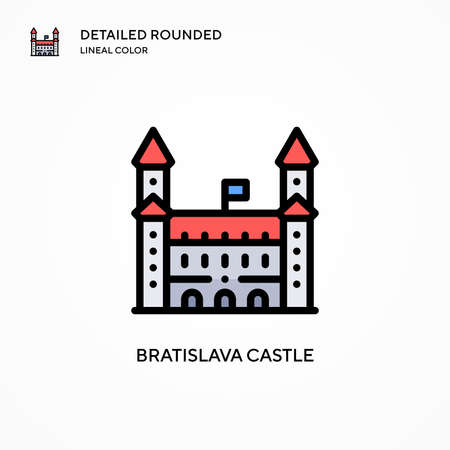 Bratislava castle vector icon. Modern vector illustration concepts. Easy to edit and customize.