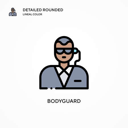 Bodyguard vector icon. Modern vector illustration concepts. Easy to edit and customize. 向量圖像