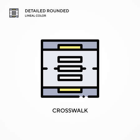 Crosswalk vector icon. Modern vector illustration concepts. Easy to edit and customize. Illusztráció