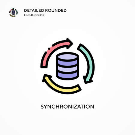 Synchronization vector icon. Modern vector illustration concepts. Easy to edit and customize.