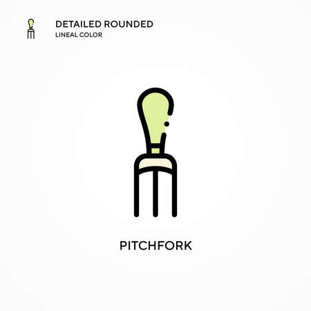 Pitchfork vector icon. Modern vector illustration concepts. Easy to edit and customize.
