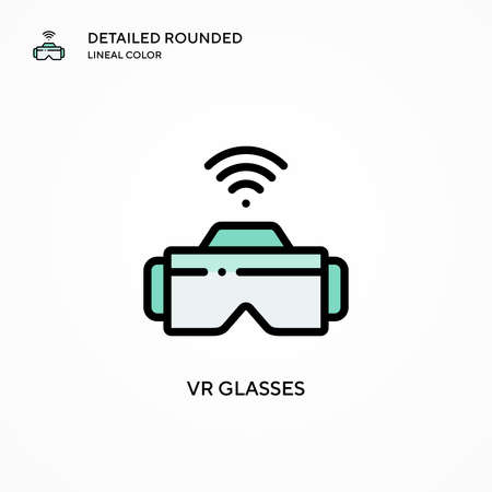 Vr glasses vector icon. Modern vector illustration concepts. Easy to edit and customize.