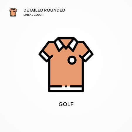 Golf vector icon. Modern vector illustration concepts. Easy to edit and customize. Иллюстрация