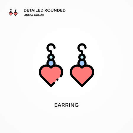 Earring vector icon. Modern vector illustration concepts. Easy to edit and customize. Illustration