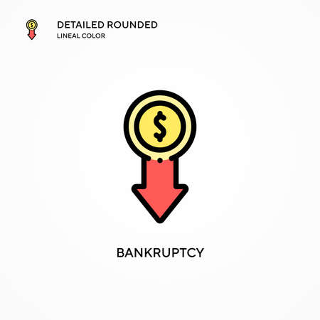 Bankruptcy vector icon. Modern vector illustration concepts. Easy to edit and customize.
