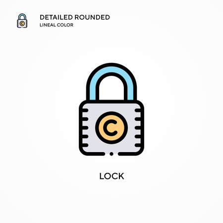 Lock vector icon. Modern vector illustration concepts. Easy to edit and customize.