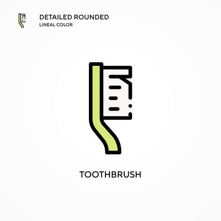 Toothbrush vector icon. Modern vector illustration concepts. Easy to edit and customize. Illusztráció