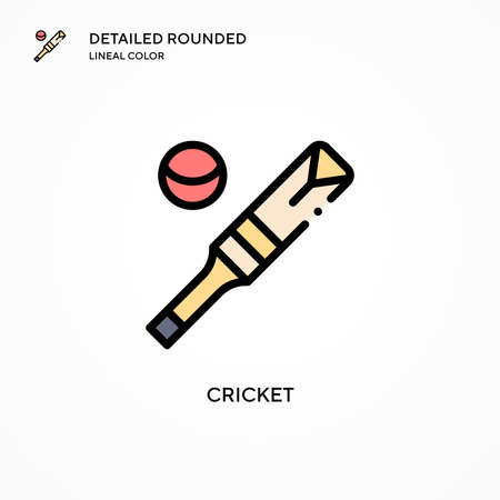Cricket vector icon. Modern vector illustration concepts. Easy to edit and customize.