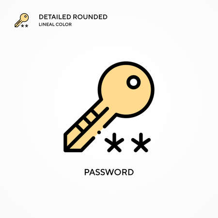Password vector icon. Modern vector illustration concepts. Easy to edit and customize.
