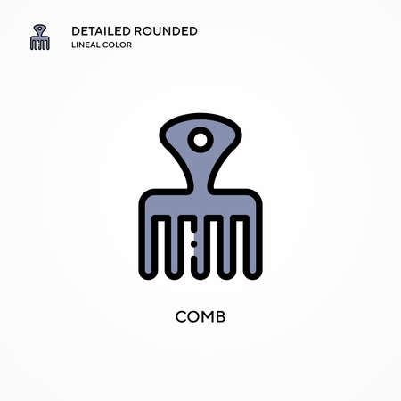 Comb vector icon. Modern vector illustration concepts. Easy to edit and customize. Çizim