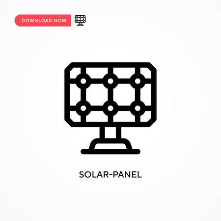 Solar-panel Simple vector icon. Modern, simple flat vector illustration for web site or mobile app Illustration