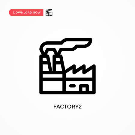 Factory2 Simple vector icon. Modern, simple flat vector illustration for web site or mobile app