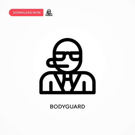 Bodyguard Simple vector icon. Modern, simple flat vector illustration for web site or mobile app