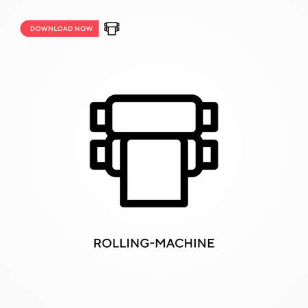 Rolling-machine Simple vector icon. Modern, simple flat vector illustration for web site or mobile app