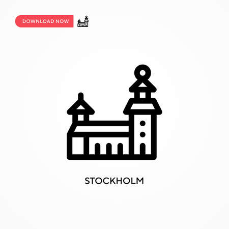 Stockholm Simple vector icon. Modern, simple flat vector illustration for web site or mobile app