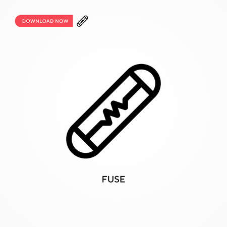 Fuse Simple vector icon. Modern, simple flat vector illustration for web site or mobile app