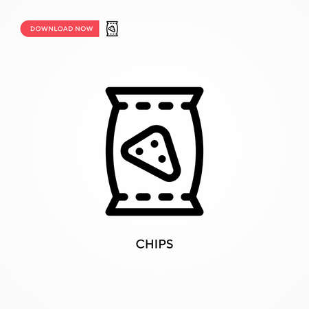 Chips Simple vector icon. Modern, simple flat vector illustration for web site or mobile app