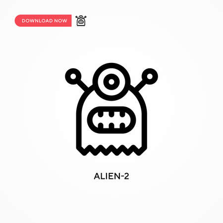 Alien-2 Simple vector icon. Modern, simple flat vector illustration for web site or mobile app
