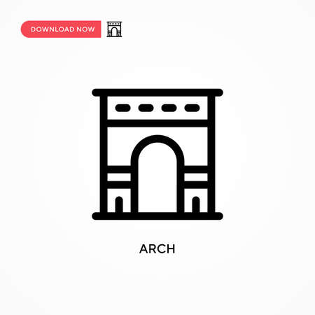 Arch Simple vector icon. Modern, simple flat vector illustration for web site or mobile app