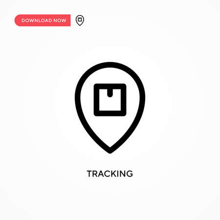 Tracking Simple vector icon. Modern, simple flat vector illustration for web site or mobile app