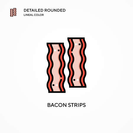 Bacon strips vector icon. Modern vector illustration concepts. Easy to edit and customize.
