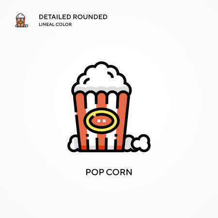Pop corn vector icon. Modern vector illustration concepts. Easy to edit and customize.